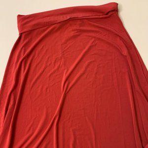 Pretty red midi skirt by LulaRoe